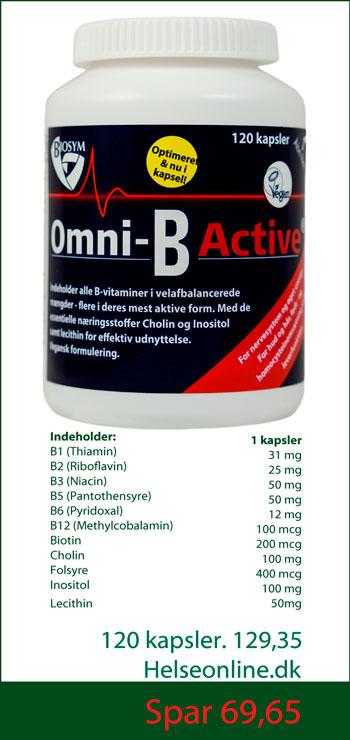 Omni B active 120 kapsler